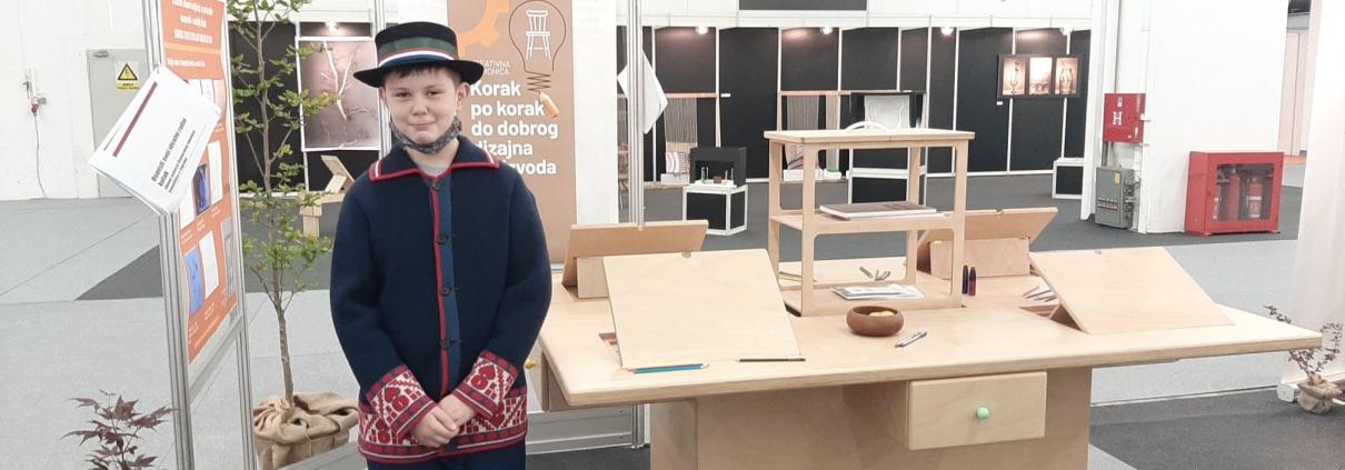 Bruno Čeović prima 1. nagradu na sajmu Ambienta