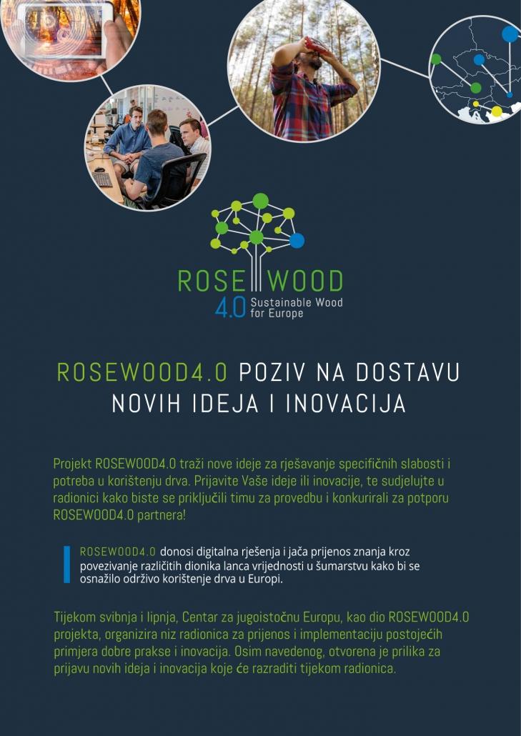 ROSEWOOD4.0 poziv na dostavu novih ideja i inovacija